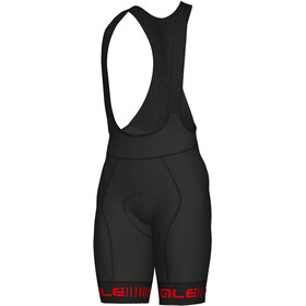 Alé Cycling PRR Strada Bib Shorts Heren, black-red